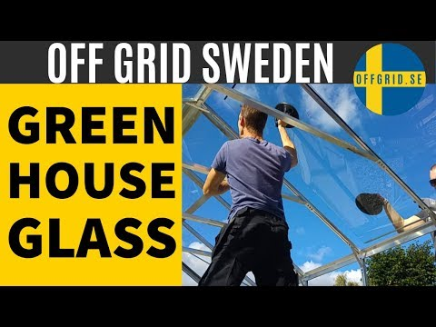 Greenhouse build - getting the glass up Episode 3