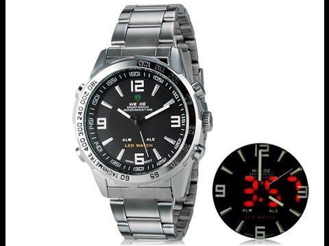 3c0d0e0ddb2 Relógio Weide Analógico Digital LED com pulseira de aço - Giga Store ...
