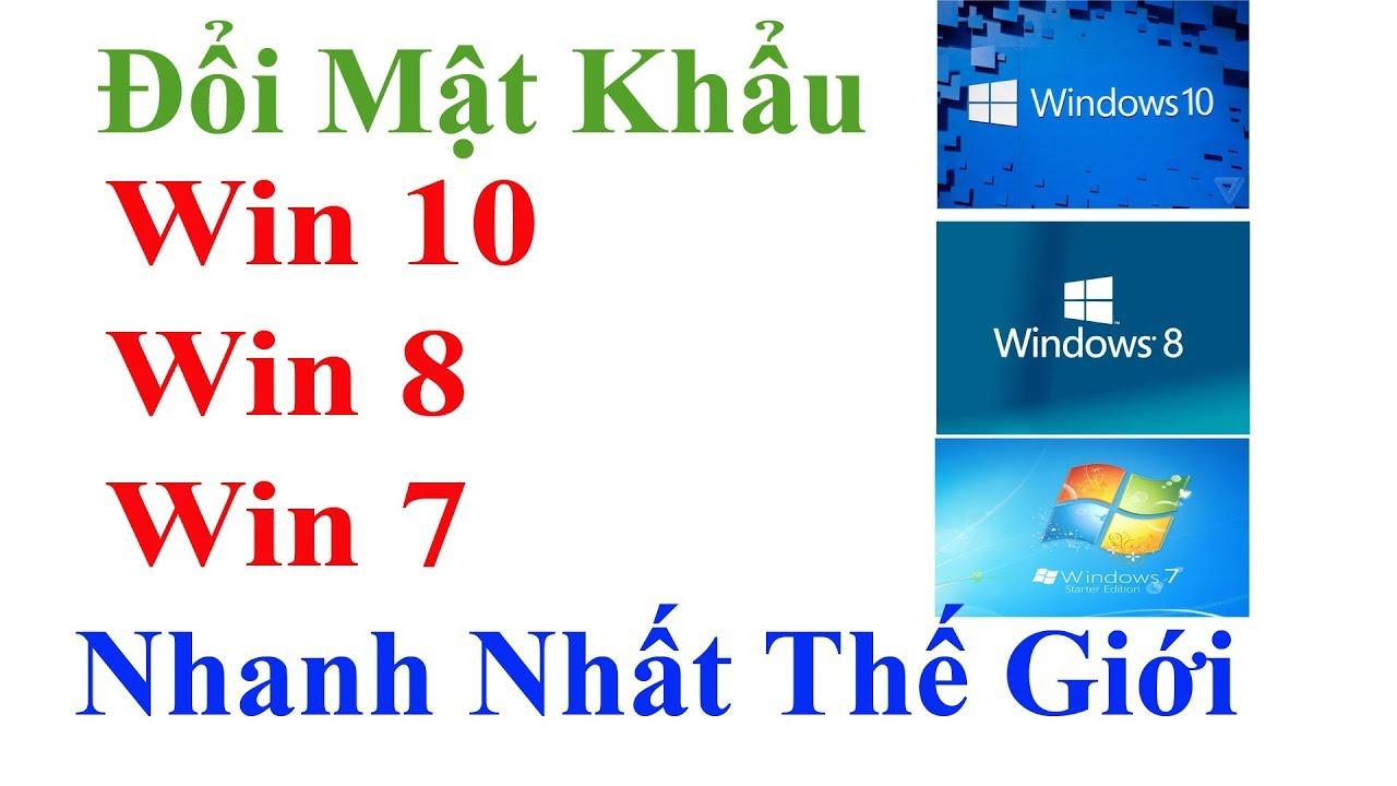 Cách đổi mật khẩu Win 10, Win 8, Win 7  - Cách đổi pass máy tính  - Vi Tính Văn Cường