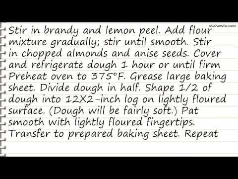 Recipe Classic Anise Biscotti