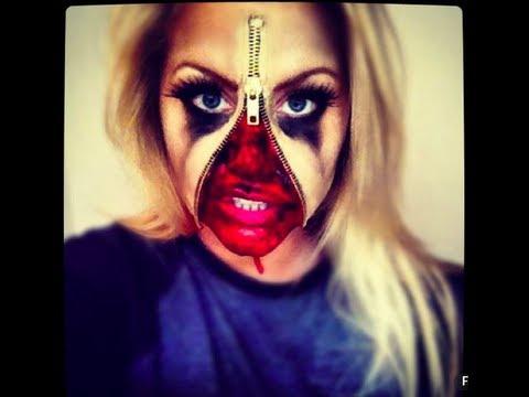 zipper face sfx makeup tutorial - YouTube