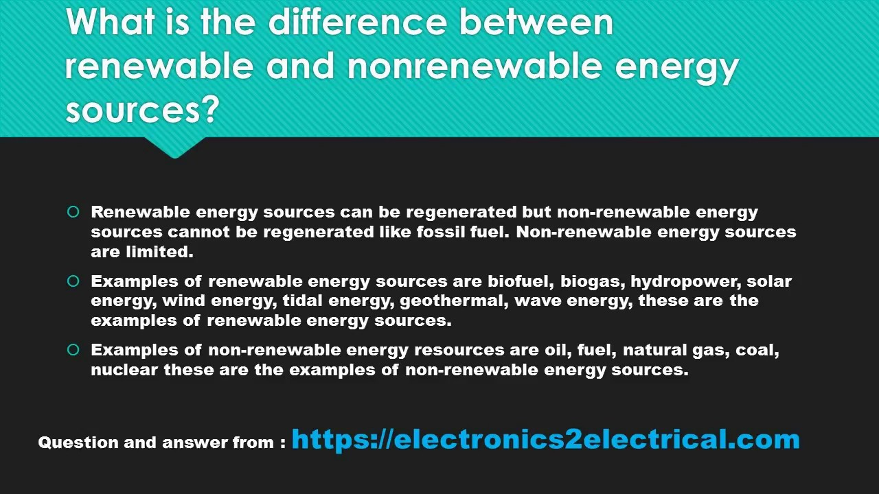 What Is The Difference Between Renewable And Nonrenewable Energy
