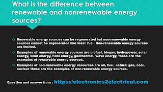 What is the difference between renewable and nonrenewable energy sources