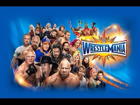 WWE Wrestlemania 33 Live Match Card Gameplay