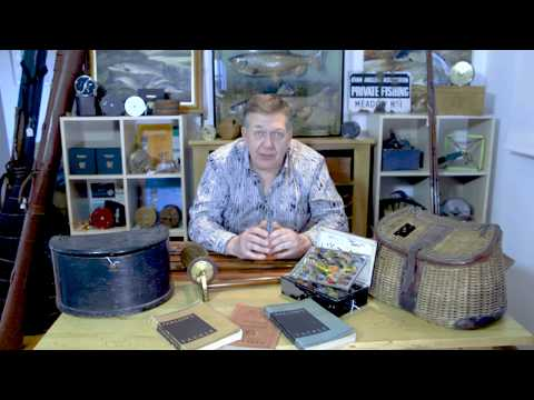 Fishing Creels, Salmon Flies And Other Misc Vintage Fishing Tackle Collectables