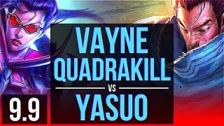 Carry your team as VAYNE vs YASUO (TOP) | Quadrakill, KDA 11/1/4, Legendary | EUW Grandmaster | v9.9