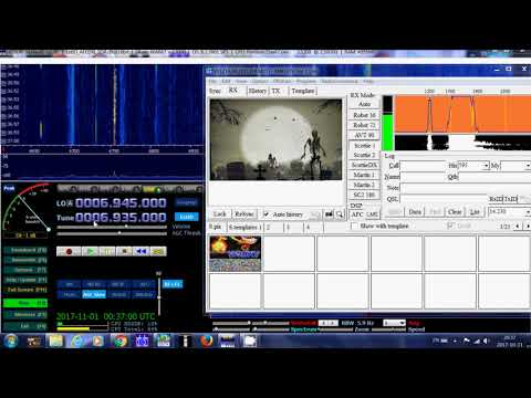 Wolverine Radio pirate halloween SSTV Pictures sent 6935 Khz USB Shortwave