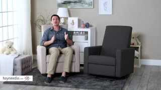 Dutailier Minho Upholstered Reclining Swivel Glider - Product Review Video