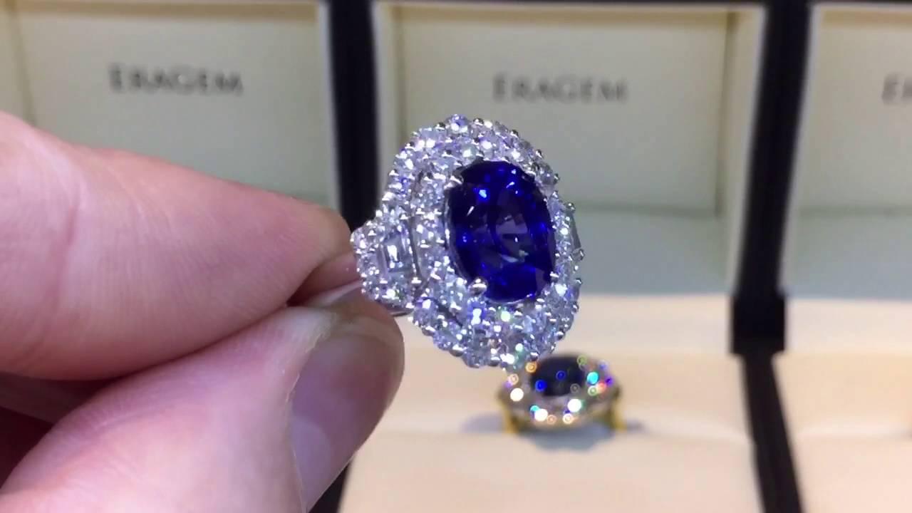 4 Carat Shire Ring W Diamond Halo In White Gold