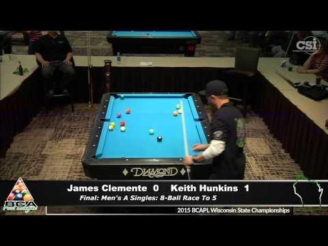 Keith Hunkins vs James Clemente (Men's A Singles Finals)