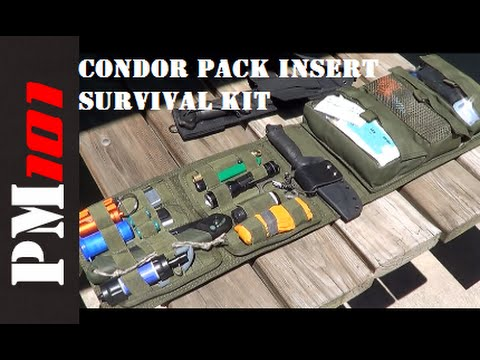 How To Build A Survival Kit With A Condor VA7 Pack Insert  - Preparedmind101