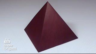 Оригами 🔺 #Пирамида Хеопса из бумаги