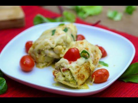 Chicken Pesto Roll Ups: 4 Ingredients Dinner Idea!