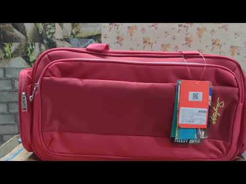 #Skybags  Cardiff Duffle 55L Red