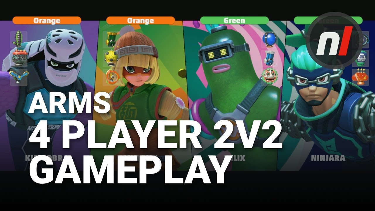 Arms 4 Player 2v2 Splitscreen Gameplay Footage Arms On