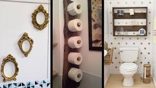 17 Ideias Criativas Para Pendurar Organizar e Decorar o seu Banheiro