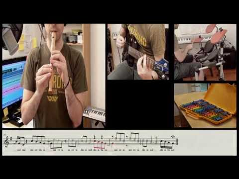 The Lazy Song  - Bruno Mars - flute cover and sheet music - Carlos Rodríguez Parrón