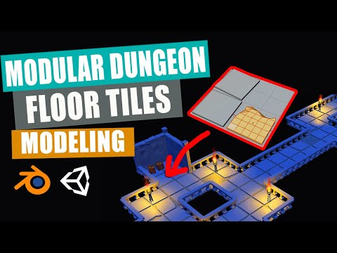 Blender to Unity   Low Poly Modular Dungeon   Part 2   Floor Tiles Modeling