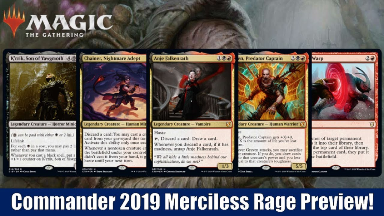 MTG Commander 2019 Previews: Merciless Rage