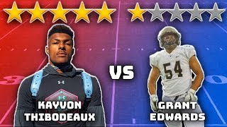 5 Star Defensive End vs 1 Star Defensive End  Sharpe Sports