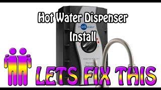 Hot Water Dispenser Install