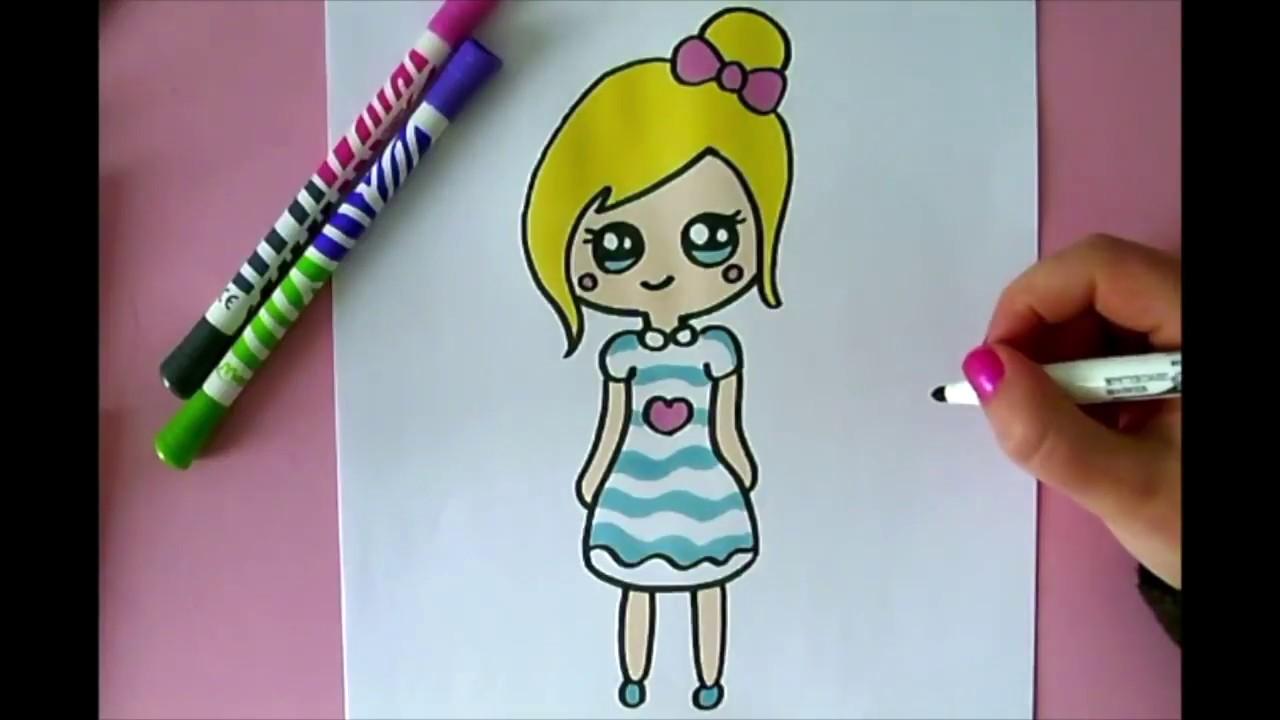 Ein Kawaii Madchen Zeichnen Lernen Youtube