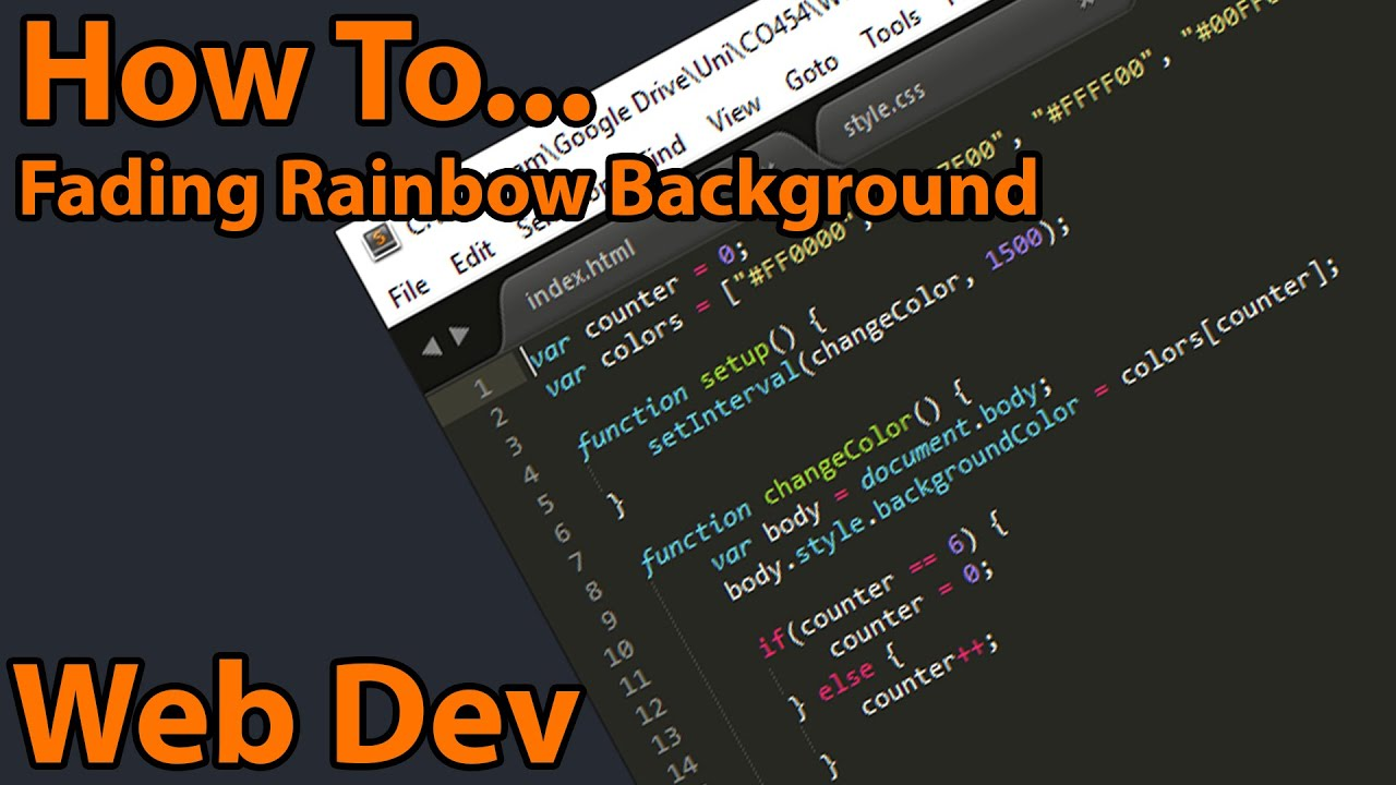 Fading Rainbow Background For A Website - YouTube