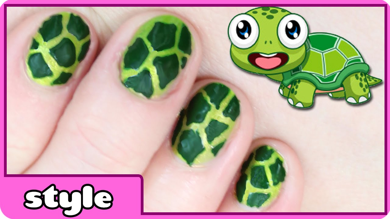 Turtle Nail Art - Turtle Nail Art - YouTube