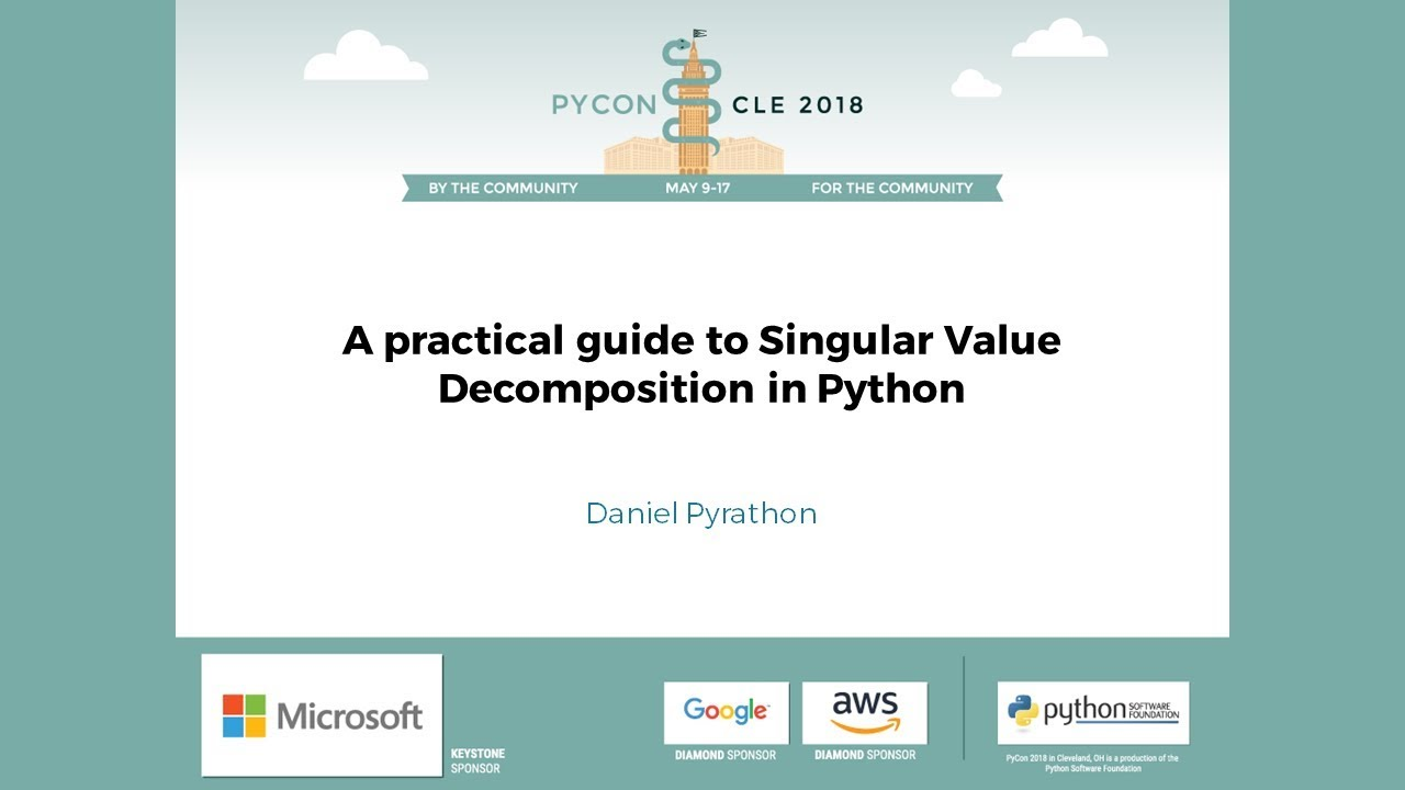 Image from A practical guide to Singular Value Decomposition in Python