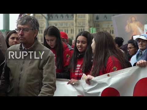 Canada: Thousands March In Ottawa Against Legal Abortions