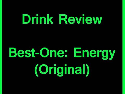 Drink Review - Best-One: Energy (Original)