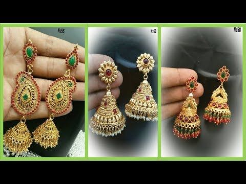 Top 20 Designer One Gram Gold Earrings || one gram gold jewellery Designs Collections