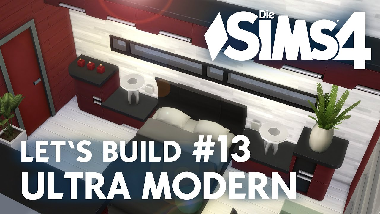 Die Sims 4 Let\'s Build Ultra Modern #13 | Schlafzimmer & Bad