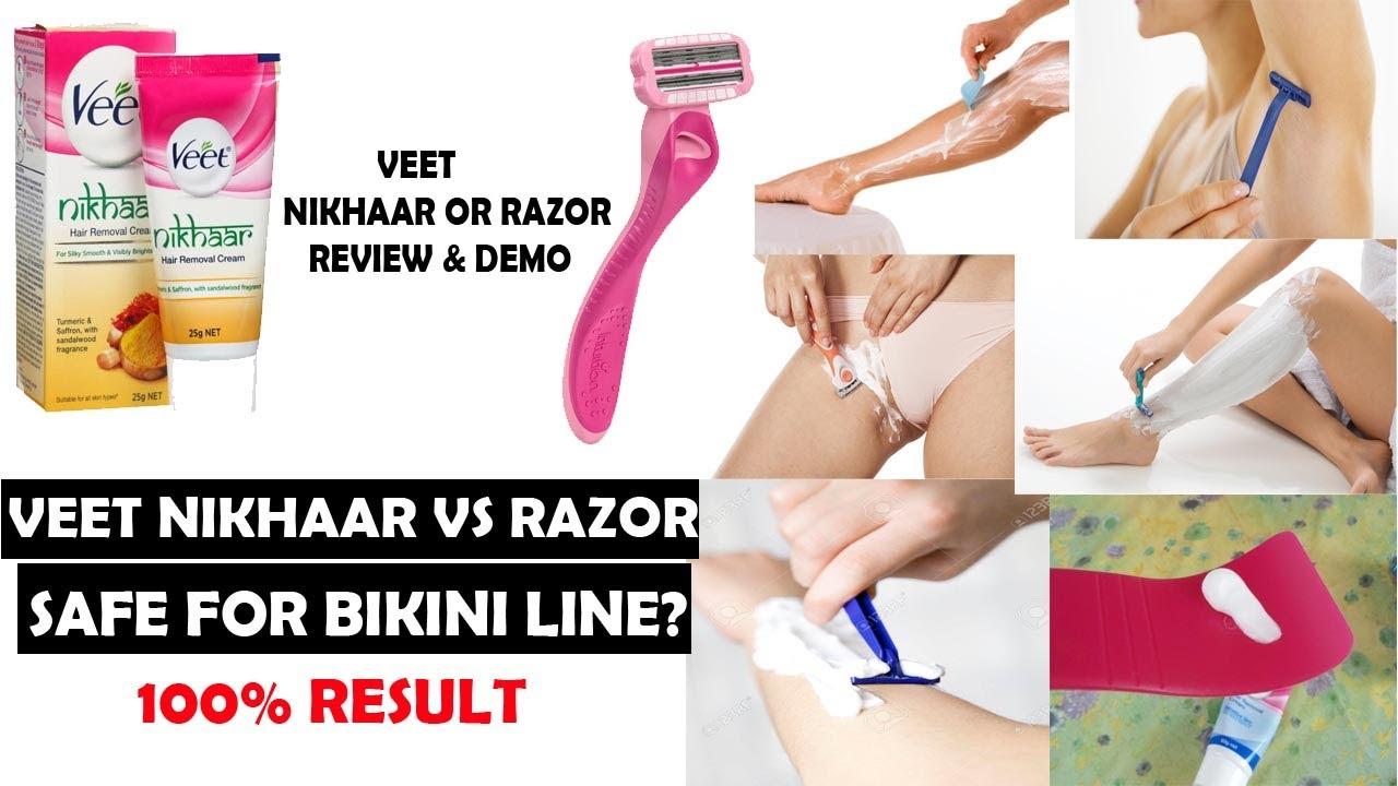 Veet Nikhaar Vs Razor Which One Is Safe For Bikini Line Full Body