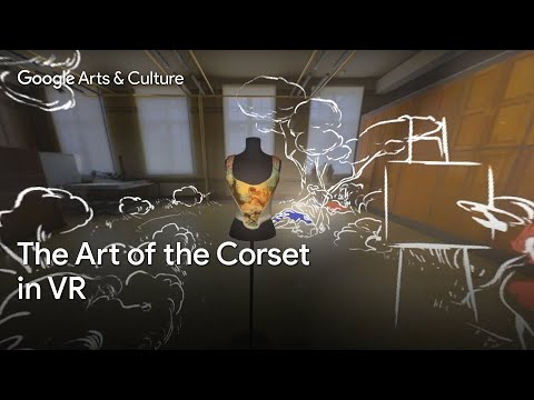 See the corset that blends fashion and fine art | The Victoria & Albert Museum | #GoogleArts