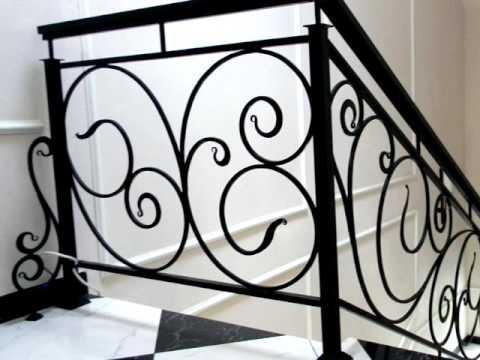 Красивое ограждение лестницы из металла ковка