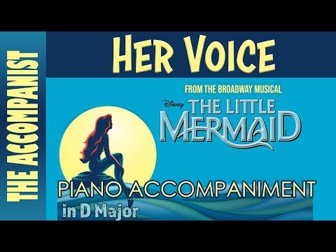 Her Voice - from Disney's The Little Mermaid - Piano Accompaniment - Karaoke