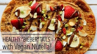 VEGAN BIEBER TAILS - A Canadian Classic with NUTELLA, Almond Butter, Bananas, and Strawberries