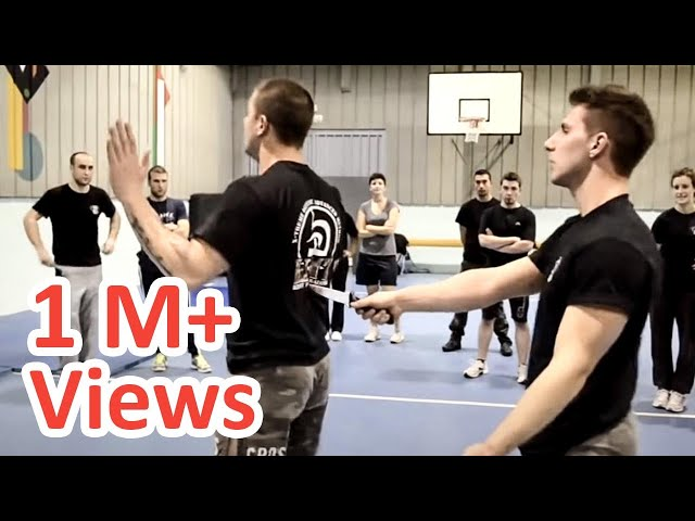 KRAV MAGA TRAINING • How to disarm a knife in your back!