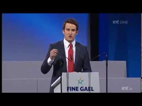 John McGahon Fine Gael Ard Fheis Speech
