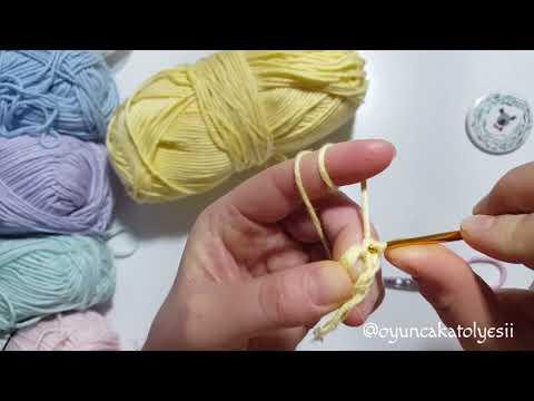 YENİ BAŞLAYANLAR İÇİN SİHİRLİ HALKA YAPIMI | Double crochet, Tığ ... | 360x480