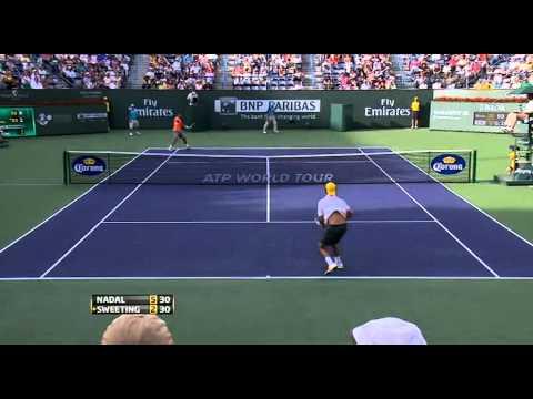 2011.Indian.Wells.Nadal.vs.Sweeting.Highlights