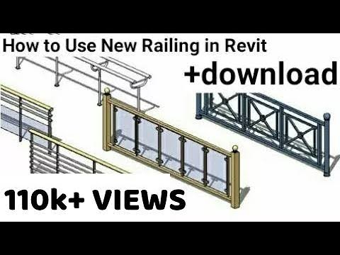 Revit Architecture | Use New Railing in Revit Tutorial