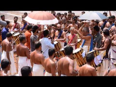 Resul Pookutty Preparing to Record Pandimelam at Peruvanam
