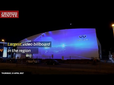 Largest video billboard in the Middle East