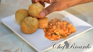 Fried Dumpling With Backed Beans,happy Easter Monday From Chef Ricardo Cooking