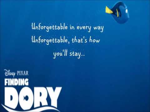 SIA Unforgettable Lyrics VideoFINDING DORY