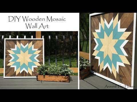 DIY Wood Mosaic Wall Art