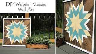 DIY Wood Mosaic Wall Art
