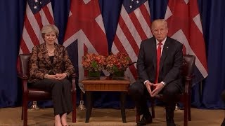 President Donald Trump meets with UK PM Theresa May amid UN General Assembly